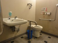 Wheelchair-accessible bathroom in Marine Gate Shiogama