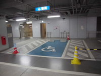 Handicap parking space in 21stCentury Museum of Contemporary Art, Kanazawa