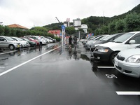 Handicap parking space in Izunokuni Panorama Park
