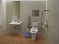 Wheelchair-accessible bathroom in Izunokuni Panorama Park