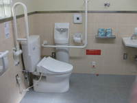 Wheelchair-accessible bathroom in Minetopia Bessi (Bessi Copper Mine)