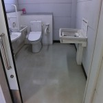 Wheelchair-accessible bathroom in Takasakiyama Wild Monkey Park