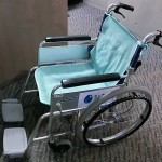 Rental wheelchair in Umitamago Aquarium (Oita Marine Palece Aquarium)