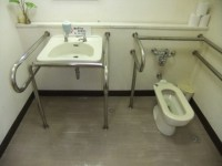 Wheelchair-accessible bathroom in Tanegashima Space Center (Space Museum)