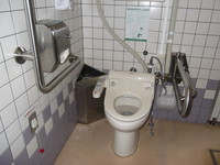 Wheelchair-accessible bathroom in Flower Park Kagoshima